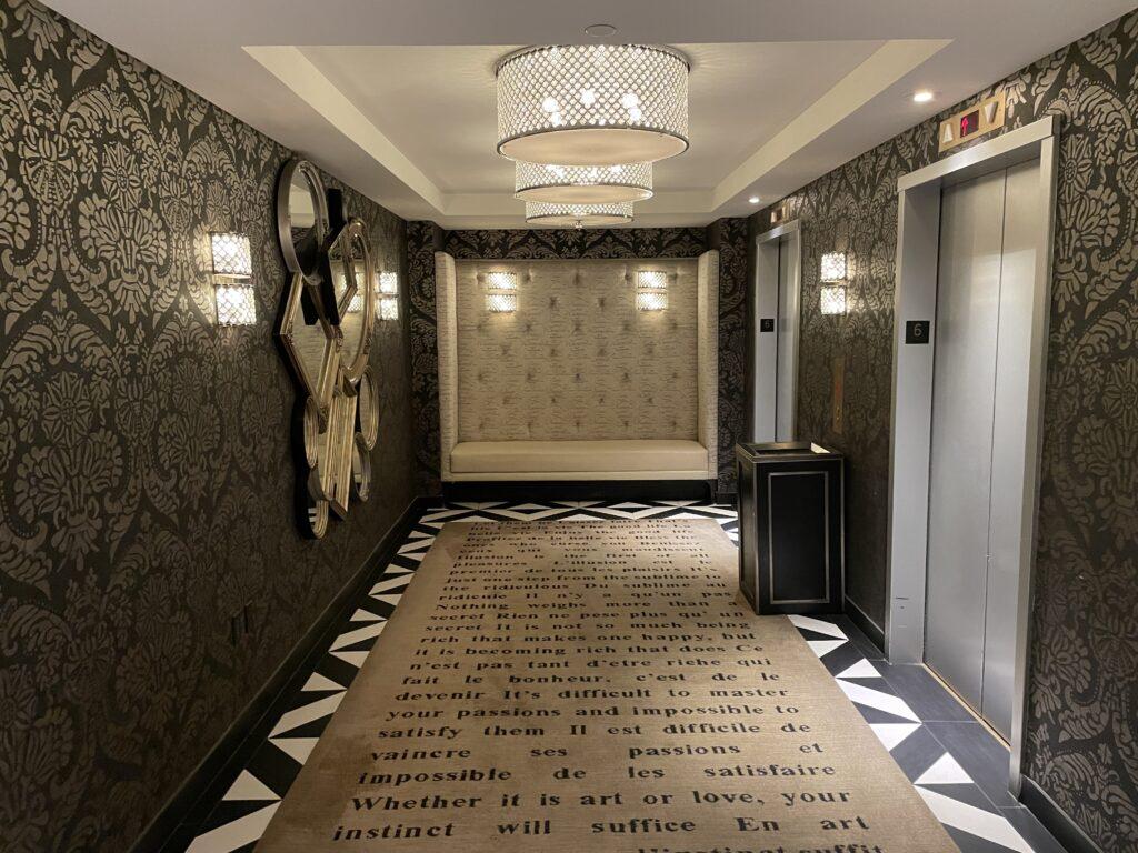 Elevator Lobby at Cromwell Las Vegas