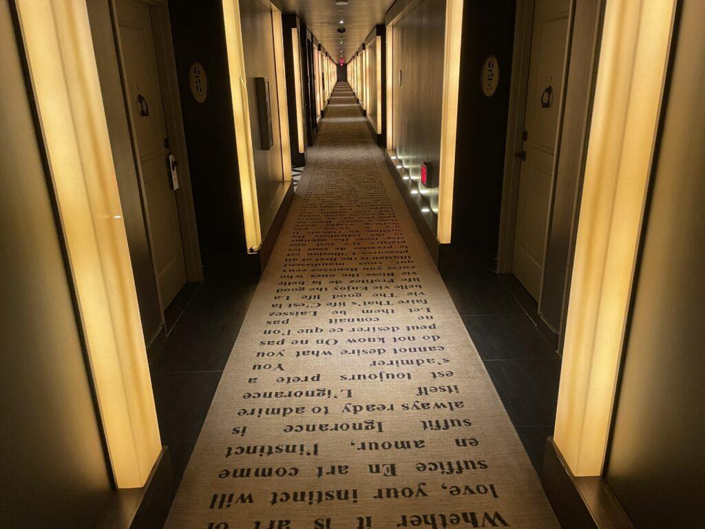 Hotel Hallway at Cromwell