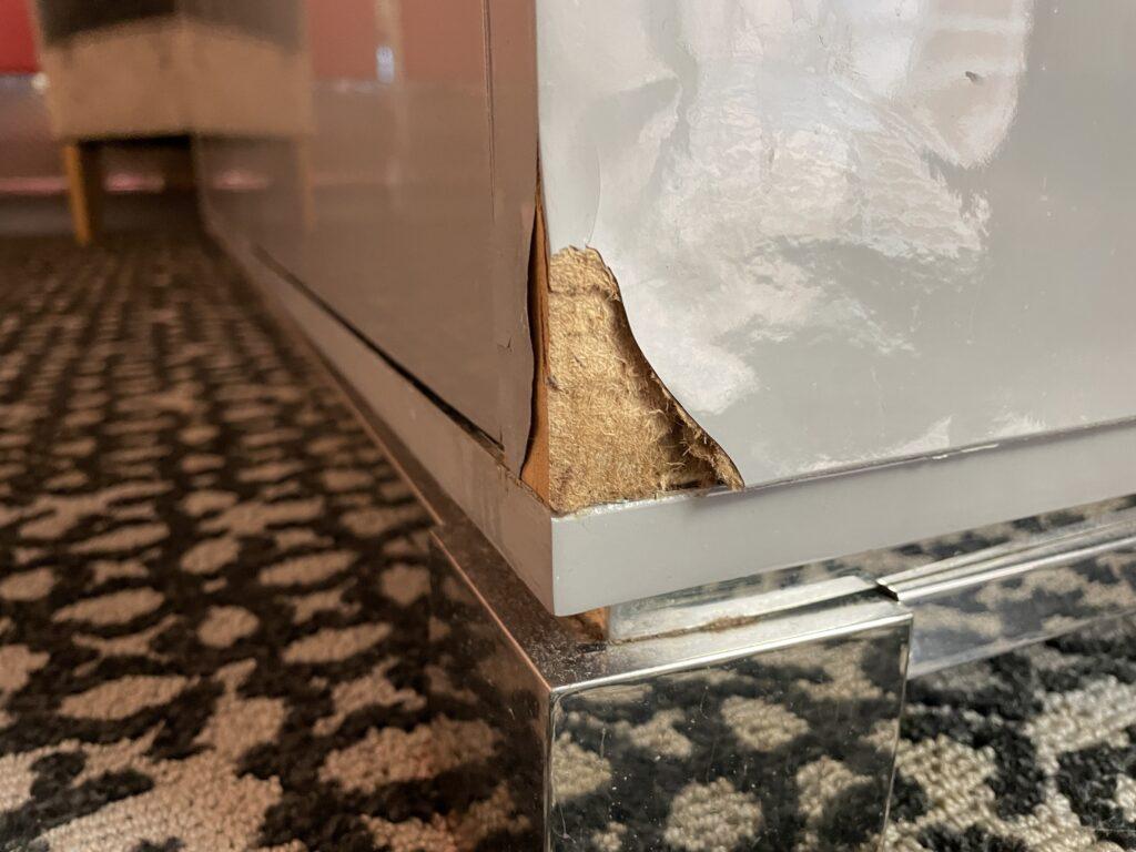 Broken Cabinet Corner
