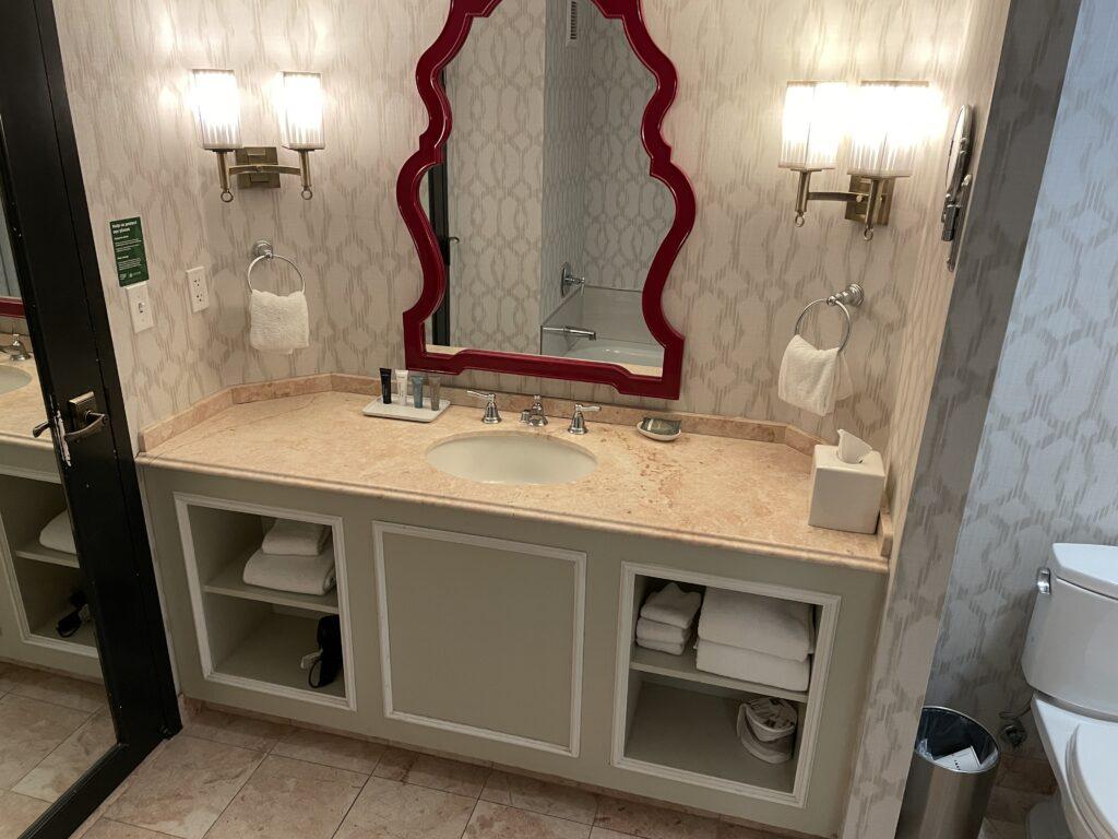 Single Sink Vanity and Mirror