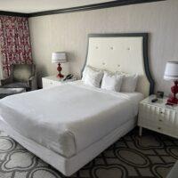 Bed in Paris' Burgundy Room
