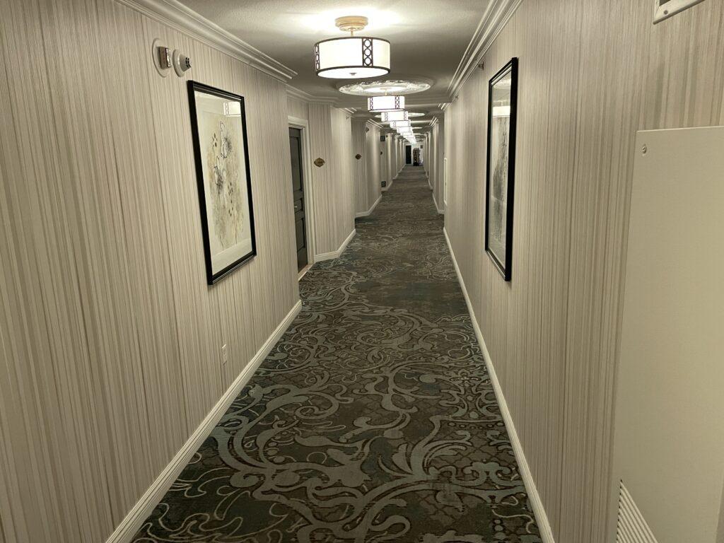 Paris Las Vegas hotel hallway