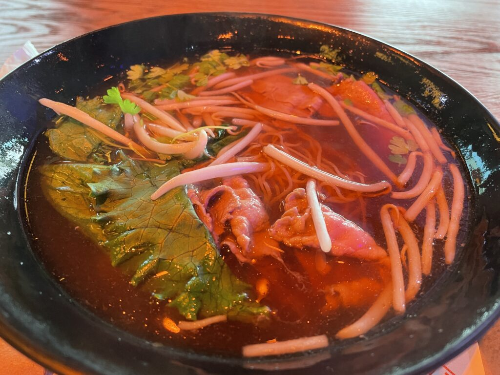 Rare Steak Noodle Soup from Ten Suns