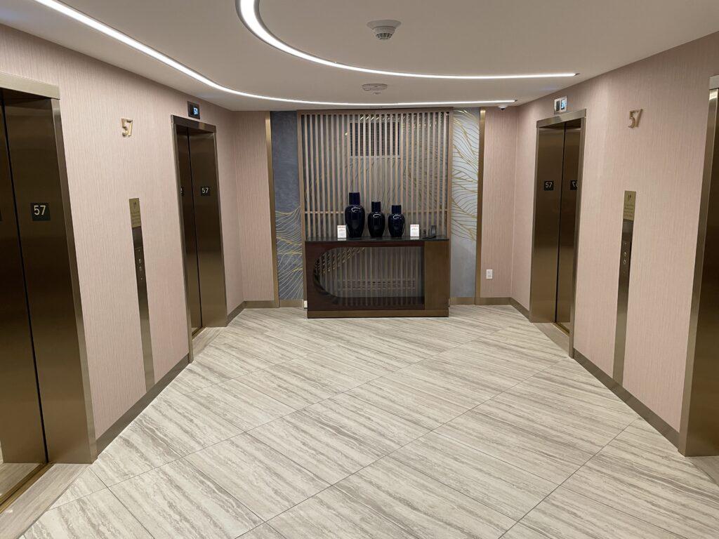 Elevator Lobby at Resorts World Las Vegas
