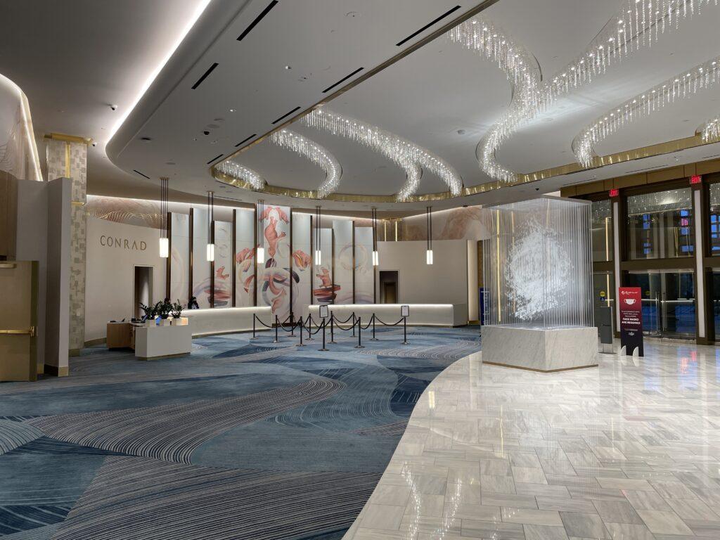 Conrad Hotel Lobby at Resorts World Las Vegas
