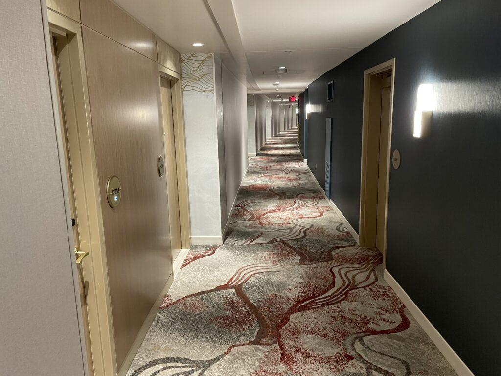 Resorts World Conrad Hotel Hallway