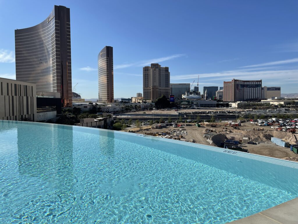 View from Resorts World Las Vegas' Infinity Pool